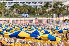 Strand Amadores in Puerto Rico, Eiland Gran Canaria Spanje stock foto