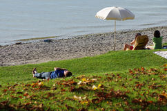 Strand in Ammersee Royalty-vrije Stock Afbeeldingen