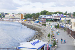 Strand in Anapa Stock Afbeeldingen