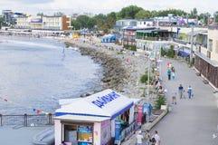 Strand in Anapa Royalty-vrije Stock Afbeeldingen
