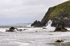 Strand, Ancud, Chiloe-Insel, Chile stockfotos