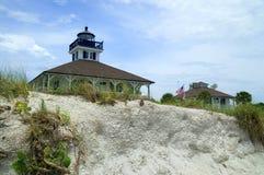 Strand-Ansicht Boca des großen Leuchtturmes Lizenzfreies Stockfoto