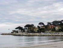 Strand in Antibes royalty-vrije stock foto