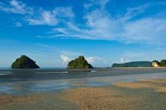 Strand in Aonang, Krabi, stock afbeelding