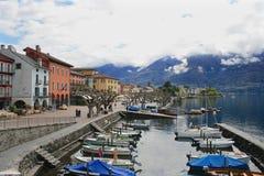 Strand Ascona, Schweiz arkivbilder