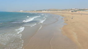 Strand in Asilah, Marokko stock footage