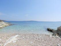 Strand auf dem adriatischen Meer Stockfotos