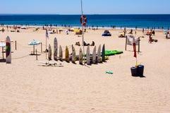Strand auf dem Atlantik in Portugal Lizenzfreie Stockfotografie