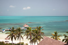 Strand auf dem Isla Contoy, Mexiko Lizenzfreie Stockbilder