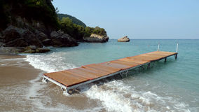 Strand auf dem Korfu stockfotografie
