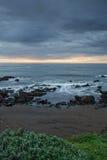 Strand auf dem Ozean Stockbild