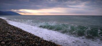 Strand auf dem Schwarzen Meer Lizenzfreies Stockbild