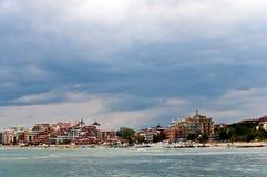 Strand auf dem Schwarzen Meer. Lizenzfreies Stockbild