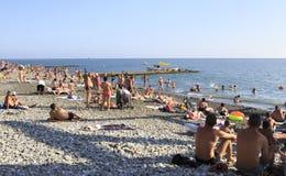 Strand auf dem Schwarzen Meer Stockbild