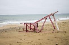 Strand auf dem Schwarzen Meer Winter 2014 Lizenzfreie Stockfotografie
