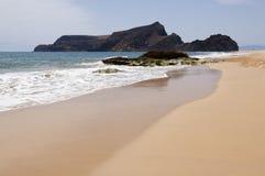 Strand auf Insel Porto-Santo, Portugal Stockfoto