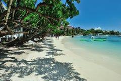 Strand auf Insel St. Joan Stockbild