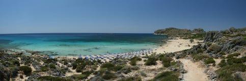 Strand auf Lagune Stockbilder
