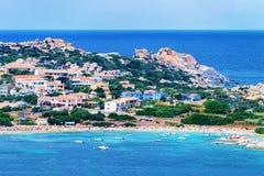 Strand auf Mittelmeer in Santa Teresa Gallura stockbilder