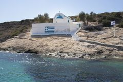 Strand auf Platy-Insel, Griechenland lizenzfreies stockbild