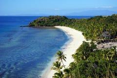Strand auf Yasawa-Insel, Fidschi Lizenzfreie Stockfotos