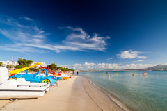 Strand av Alcudia Arkivbild