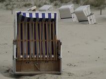 Strand av Baltrum Arkivbild