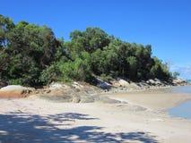 Strand av Batu Bedaun Indonesien Arkivfoton