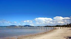 Strand av Batu Bedaun Indonesien Royaltyfria Bilder