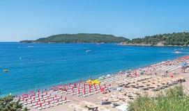 Strand av Becici Arkivbilder