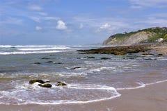 Strand av Bidart i Frankrike arkivbild