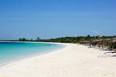 Strand av Cayo Las Brujas. Kuba Arkivbild