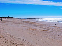 Strand av Chipiona i Cadiz Arkivfoton