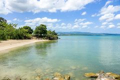 Strand av Christopher Columbus Royaltyfria Bilder