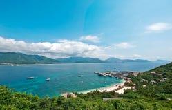 Strand av den Hainan ön Arkivbild