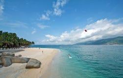 Strand av den Hainan ön Arkivbilder