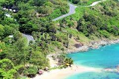 Strand av den Thailand Phuket ön royaltyfri bild