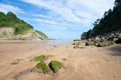 Strand av EA, Bizkaia royaltyfri foto
