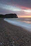Strand av Etretat Arkivbild
