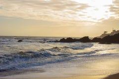 Strand av herr Hulot i St-Marc-sur-MER Royaltyfri Foto