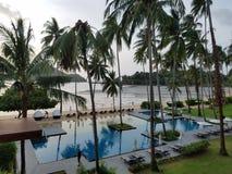 strand av hotellet royaltyfria bilder