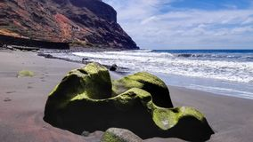 Strand av Igueste de San Andrés i Tenerife royaltyfri bild