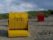 Strand av Juist Arkivfoton