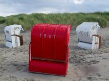Strand av Juist Royaltyfria Bilder
