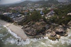 Strand av Kaoseng, Thailand Arkivfoton