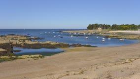 Strand av Lérat på Piriac-sur-Mer Arkivfoton