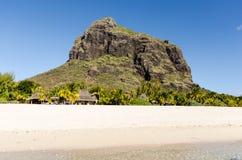 Strand av Le Morne i Mauritius Royaltyfri Fotografi