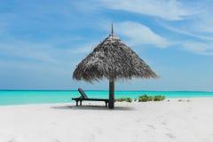 Strand av Maldiverna Royaltyfria Foton