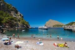 Strand av Mallorca Spanien Royaltyfri Bild