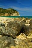 Strand av Mattinata på Garganoen, Italien Royaltyfri Fotografi